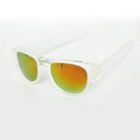 SlapSee Pro Folding Wrist Slapping Sunglasses - Clear Frame White Slap Multi Lens