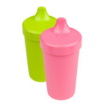 Re-Play  2 Pack Spill Proof Cups - Pink & Green