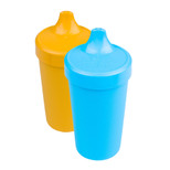 Re-Play  2 Pack Spill Proof Cups - Sky Blue & Orange