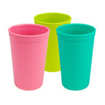 Re-Play  3 Pack Drinking Cups - Pink, Aqua & Green