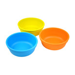 Re-Play  3 Pack Bowls - Sky Blue, Orange & Yellow