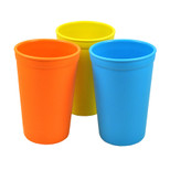 Re-Play  3 Pack Drinking Cups - Sky Blue, Orange & Yellow