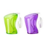 Flipper 2 In 1 Green & Purple Toothbrush Holder FLR-BS-GN-PP