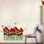 StickieArt Butterflies On Roses Wall Decal Medium 50 x 70 cm