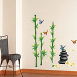 StickieArt Leaves, Stones And Butterflies Wall Decal Medium 50 x 70 cm