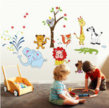 StickieArt Jungle Toons  Wall Decal Large 60 x 90 cm