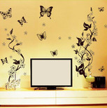 StickieArt Butterfly Contrast Wall Decal Large 60 x 90 cm