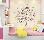 StickieArt Jazzy Tree Wall Decal Large 60 x 90 cm