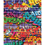 Walltastic - Graffiti Wallpaper Mural - 8 Panels with Adhesive - 8 x 6.6 ft - WTC-43855+43121