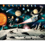 Walltastic - Space Adventure Wallpaper Mural - 12 Panels with Double Sided Tape - 8 x 10 ft - WTC-41837+40748