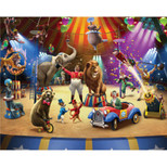 Walltastic - The Circus Wallpaper Mural - 12 Panels with Double Sided Tape - 8 x 10 ft - WTC-42834+40748