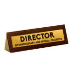 Director - Funny Wooden Desk Sign - Brown - OTH-DK1044