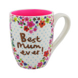 Gift Mug - 'Best mum ever!' - 10.5 Oz - Ceramic - OTH-CM310