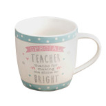 Gift Mug - 'SPECIAL TEACHER thanks for making me shine so BRIGHT' - 14 Oz - Ceramic - OTH-LL275