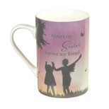 Gift Mug - 'Always my Sister forever my friend' - 10 Oz - Ceramic - OTH-62172
