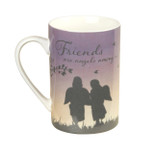 Gift Mug - 'Friends are angels among us' - 10 Oz - Ceramic - OTH-62177