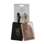 Luggage Tags - Engagement and Wedding Gift - 'Mr. & Mrs.' - PU Leather - OTH-TC713