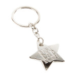 Metal Star Keyring - 'BEST DAD EVER!' - OTH-62103