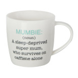 Gift Mug - 'Mumbie:(noun) A sleep-deprived super mum, who survives on caffine alone' - 14 Oz - Ceramic - OTH-69113