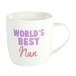 Gift Mug - 'WORLDS BEST nan' - 14 Oz - Ceramic - OTH-CM307