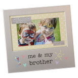 "Aluminium Photo Frame - 'me & my brother' - 6"" x 4"" - OTH-FA519BR"