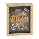 Layered Glass Shadow Box - 'I love you to the moon and back' - OTH-NV369