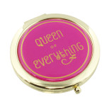 Ladies Compact Mirror - 'QUEEN OF EVERYTHING' - Metal - OTH-SP1265