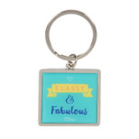 Silverplated Keyring - 'CLASSY & Fabulous' - OTH-SP1220