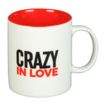 Gift Mug - 'CRAZY IN LOVE' - 12 Oz - Ceramic - OTH-HM1486