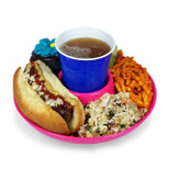 GreatPlate - Food and Beverage Plate - Pink - GPL-PNK