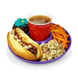 GreatPlate - Food and Beverage Plate - Purple - GPL-PRPL