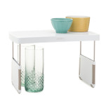 StoreMore 13-Inch Height Adjustable Kitchen Cabinet Shelf Organizer - White - YCA-50089