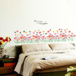 "StickieArt - ""Bless this home with Love & Laughter""- Flowers and Butterflies - Wall Decal- Large - 60 x 90 cm - STA-196"