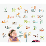 StickieArt - Colourful Animal Alphabets for kids - Wall Decal- Large - 60 x 90 cm - STA-197