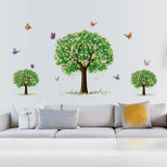 StickieArt - Three Trees with Butterflies - Wall Decal- Large - 60 x 90 cm - STA-198