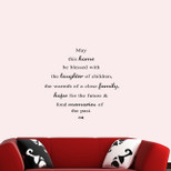 """StickieArt - """"May this home be blessed……"""" - Wall Decal- Medium - 50 x 70 cm - STA-312"""