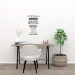 "StickieArt - ""WORK HARD GIVE YOUR BEST ……."" - Wall Decal- Medium - 50 x 70 cm - STA-313"