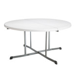 Lifetime 60 Inch, Round Commercial, Fold-in-Half Table,10 Year Limited warranty, White Granite Colour, LFT-5402