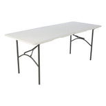 Lifetime 6 Ft Fold-In-Half Table, Rectangle, Residential, White Granite Colour, LFT-80244