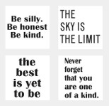 """StickieArt - Quote 4-in-1: """"Be silly..."""" - Wall Decal - Large - 60 x 90 cm - STA-439"""