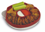 Handy Gourmet Hide-Away Platter - Red