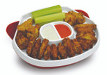 Handy Gourmet Hide-Away Platter - White