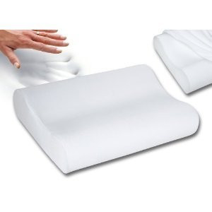 PREMIUM QUALITY Memory Foam Molded Contour Neck Pillow -Washable Cover -Standard