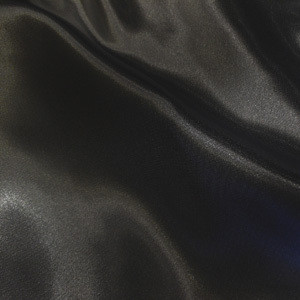 "SOFT ""SILK"" SATIN / SATEEN PILLOW CASE / COVER - BLACK"
