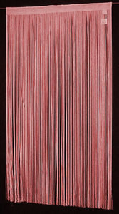 "String Thread Stripe Corridor Curtain Burgu/Red 40""x99"""