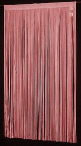 "String Thread Stripe Corridor Curtain Burgu/Red 40""x99"""