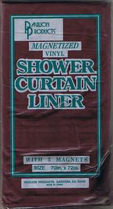 Magnetized VINYL Shower Curtain Liner half Heavy Duty 940