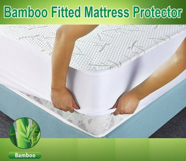 Mattress Protector Waterproof Cool Bamboo Soft Hypoallergenic Fitted Pad Cover