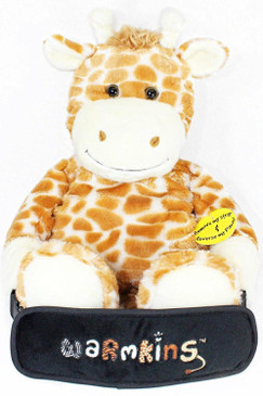 """Winston""Heated/Cooled,Multi Functional,18""Plush Giraffe Buddy/Backpack-Warmkins"
