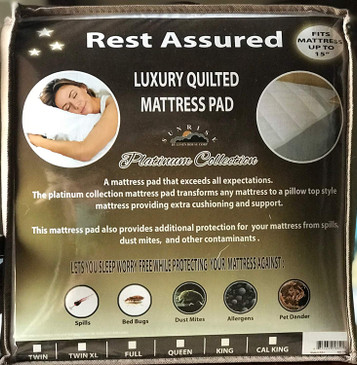Orly's Dream Rest Assured Platinum Collection Luxury Quilted Fitted Hypoallergenic Mattress Pad/Cover/Protector - Deep Pocket (White, Twin XL)
